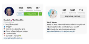 business-instagram-bio-versus-non-business-instagram-bio